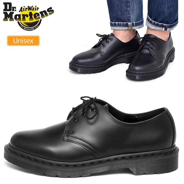 【正規取扱店】ドクターマーチン 3ホールシューズ Dr.Martens 1461 モノ ポストマンシューズ[ブラック](14345001)1461 MONO 3 EYE SHOE メンズ レディース【靴】_1712wannado