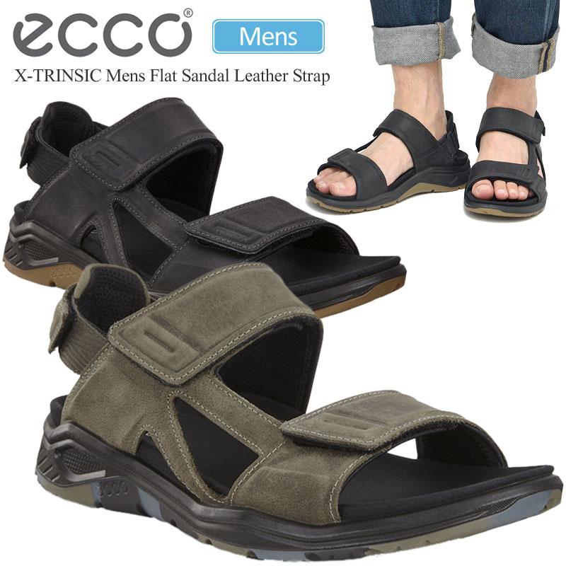 Echo sandals ECCO flat sandals leather strap (88061425 .5 27.5cm) X TRINSIC MENS FLAT SANDAL LEATHER STRAP men _sdl_1907wannado
