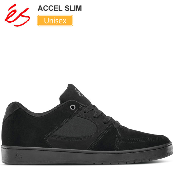 【正規取扱店】エス スニーカー 'es アクセルスリム[ブラック/ブラック](23.5-28.5cm)ACCEL SLIM メンズ レディース【靴】 snk 1903wannado