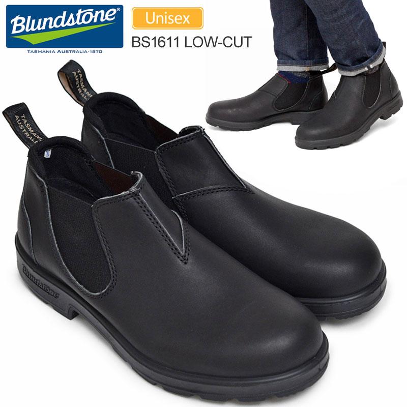 【正規取扱店】ブランドストーン Blundstone 1611 ローカット サイドゴアブーツボルタンブラック(BS1611089/22.5-28.5cm)1611 LOW-CUT メンズ レディース【靴】 1910wannado