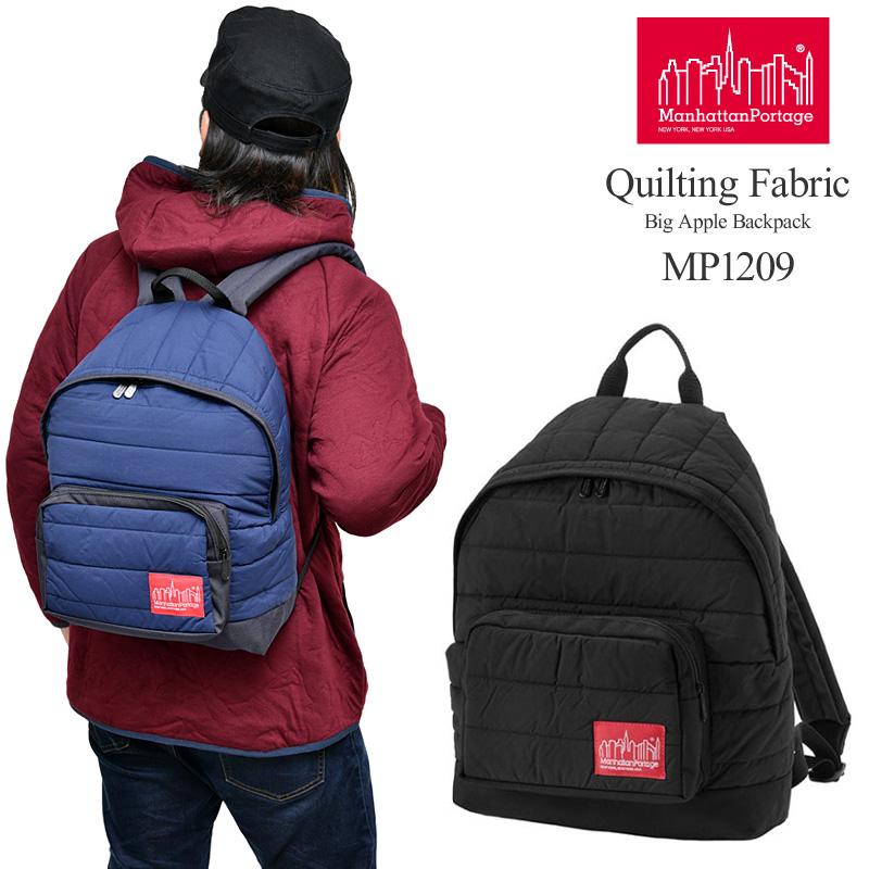 【正規取扱店】マンハッタンポーテージ Manhattan Portage キルティングファブリック ビッグアップルバックパック(MP1209QLT19)Quilting Fabric Big Apple Backpack メンズ レディース【鞄】 bpk 1911wannado