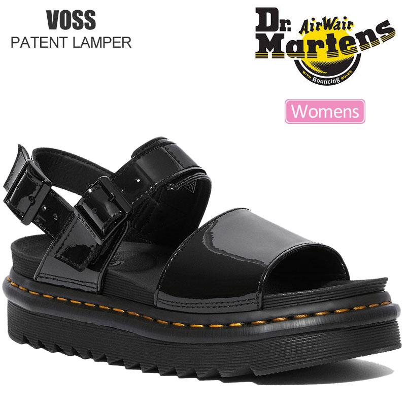 【正規取扱店】ドクターマーチン Dr.Martens サンダル レディース ウィメンズ ヴォス ボス パテントランパー ブラック 22-25cm VOSS PATENT LAMPER 25773001 20SS sdl【靴】2005wannado