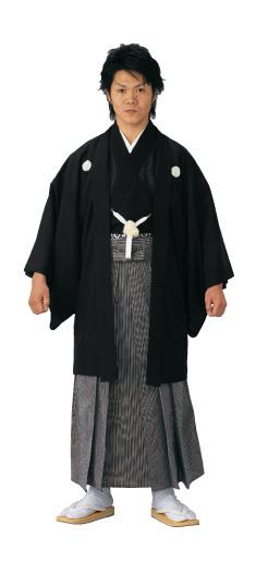 黒駒絽石持羽織