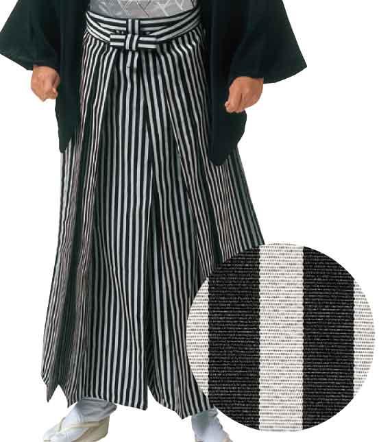 あんどん型縞袴