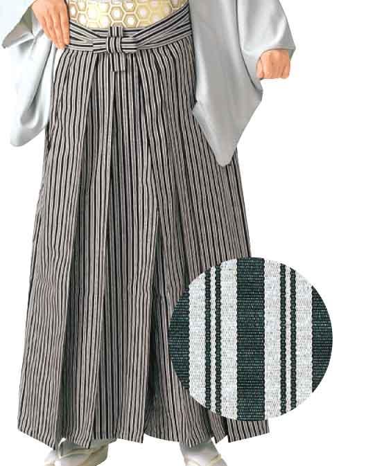 うまのり型縞袴