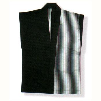 織り袖なし大人半纏