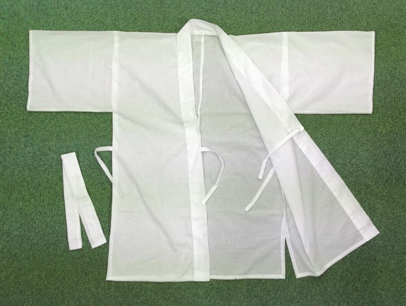 なんと 国産です 滝行 行衣などに最適な修行用白衣です メーカー再生品 滝行の滝衣 大人気 売り切れると納期3ヶ月 最安値 七分丈 白衣 行衣でもOK