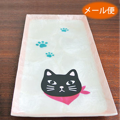 Healing Cat Toy Figurine Capiz Shell Plate Tray Interior Of Asian Goods Figurines And