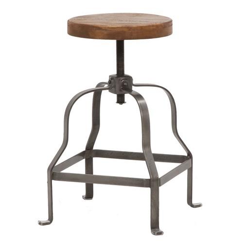 【LIBERTA 座面37cm回転昇降式スツール】《W:37×D:37×H:46-65》インダストリアル 家具 インダストリアル 送料無料 北欧 レトロ シャビー シンプル 北欧風スタイルのお洒落な椅子 チェア スツール( 腰掛け おしゃれ いす インテリア)