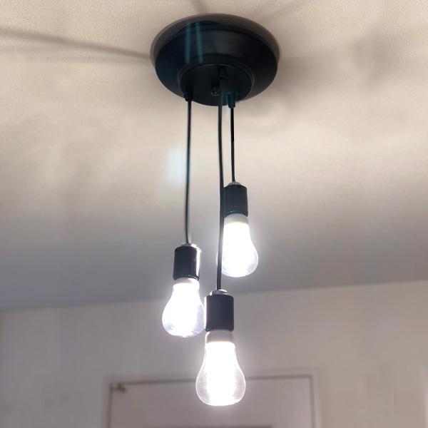(3灯 ランダム ペンダントライト) ペンダントライト led(led電球対応)レトロ ダイニング アンティーク カフェ ソケット 3灯 ペンダント E26 照明器具 天井照明 天井 照明 ライト おしゃれ 器具 シーリングライト