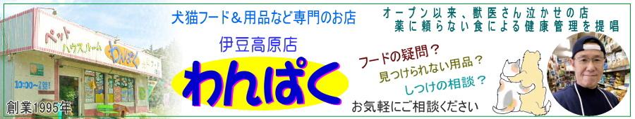 わんぱく Cat Dog フード用品 専門:Cat&Dogのお店 「わんぱく 」伊豆高原 専門店のフード&犬猫用品