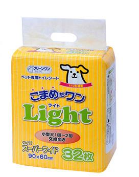 クリーンワン こまめだワン Light(ライト)スーパーワイド 32枚 わんぱく【ラッキーシール対応】