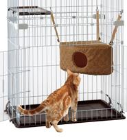 マルカン キティハンモックベッド ボア 猫用 ペット用 動物用 【ラッキーシール対応】