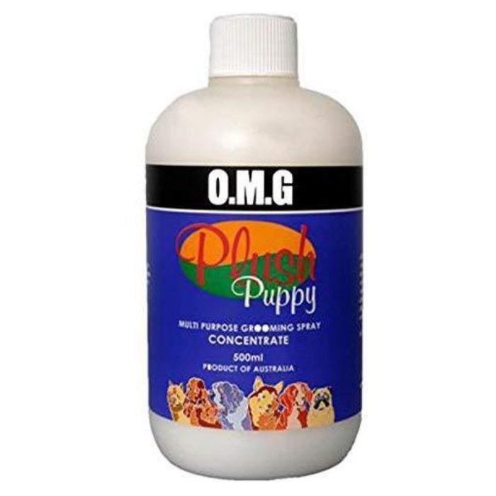 オーストラリア生まれの愛犬用スタイリングシリーズです オーガニック素材の決定版として世界中のトップハンドラー ブリーダー トリマーなどプロの方より愛用されています 犬 お手入れ用品 Plush OMGコンセントレート 全商品送料無料 濃縮タイプ Puppy 500ml メーカー直送 半額