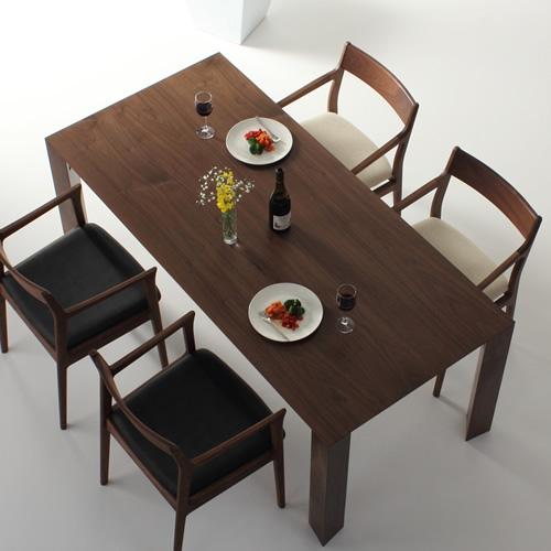 ダイニングテーブル 幅85cm~180cm 高さ65cm~74cm ウォールナット材 シャープ 食堂テーブル 北欧 和モダン デザイン デザイナー おしゃれ 人気 手作り diy 木製 天然木 日本製 国産 モダン ナチュラル シンプル 家具職人 家具メーカー