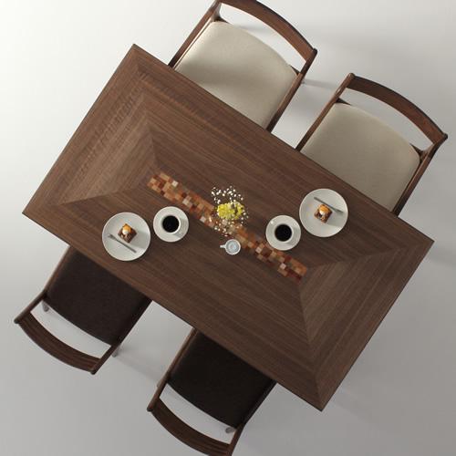 ダイニングテーブル 幅120cm~180cm 高さ65cm~74cm ウォールナット材 モロッコ カラフル食堂テーブル 北欧 和モダン デザイン デザイナー おしゃれ 人気 手作り diy 木製 天然木 日本製 国産 モダン ナチュラル シンプル 家具職人 家具メーカー