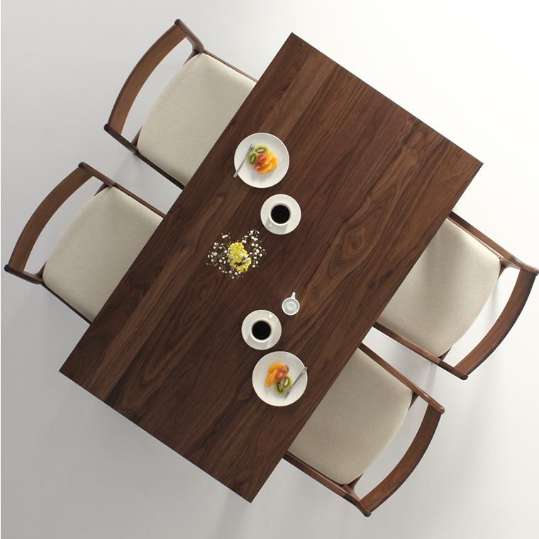 ダイニングテーブル 幅120cm~180cm 高さ65cm~74cm ウォールナット材 食堂テーブル 無垢材 北欧 和モダン デザイン デザイナー おしゃれ 人気 手作り diy 木製 天然木 日本製 国産 モダン ナチュラル シンプル 家具職人 家具メーカー