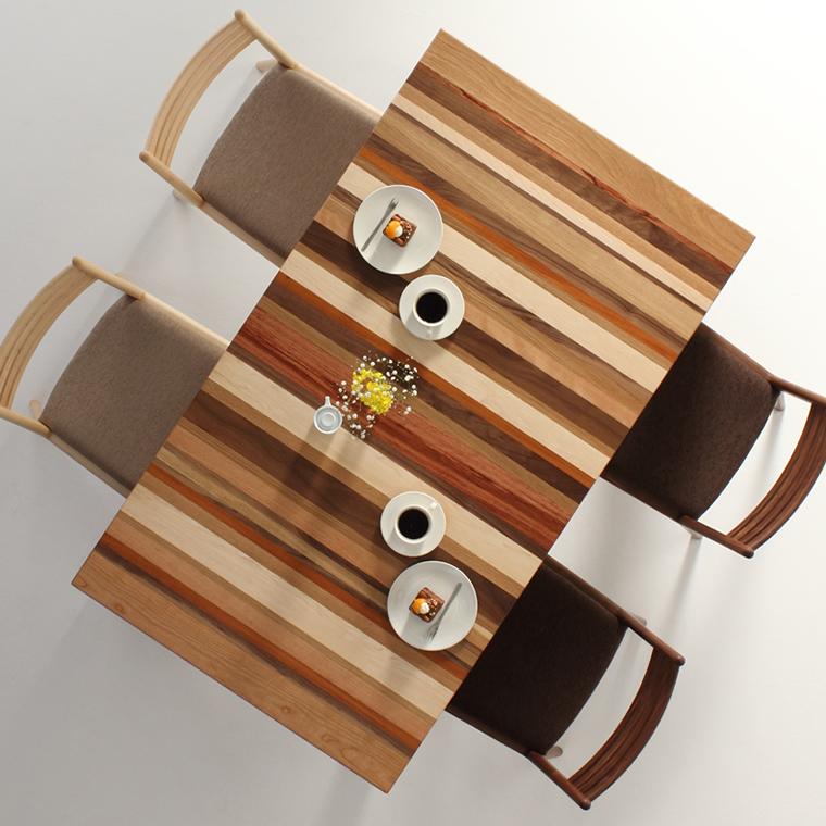 ダイニングテーブル 幅85cm~180cm 高さ65cm~74cm モロッコ カラフル 楽しい シャープ 食堂テーブル 無垢材 北欧 和モダン デザイン デザイナー おしゃれ 人気 手作り diy 木製 天然木 日本製 国産 モダン ナチュラル シンプル 家具職人 家具メーカー
