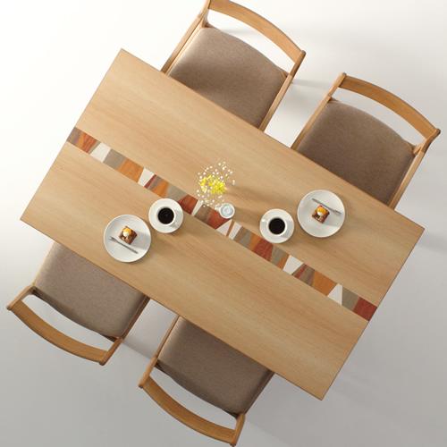 ダイニングテーブル 幅120cm~180cm 高さ65cm~74cm ホワイトオーク材 モロッコ カラフル 楽しい 食堂テーブル 無垢材 北欧 和モダン デザイン デザイナー おしゃれ 人気 手作り diy 木製 天然木 日本製 国産 モダン ナチュラル シンプル 家具職人 家具メーカー