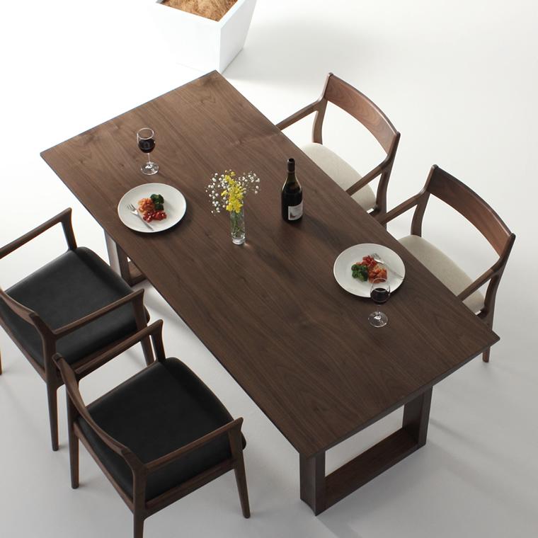 ダイニングテーブル 幅120cm~210cm 高さ65cm~74cm ウォールナット材 シャープ 食堂テーブル 北欧 和モダン デザイン デザイナー おしゃれ 人気 手作り diy 木製 天然木 日本製 国産 モダン ナチュラル シンプル 家具職人 家具メーカー