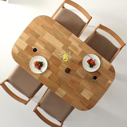 ダイニングテーブル 幅120cm~180cm 高さ65cm~74cm ホワイトオーク材 丸み 食堂テーブル 無垢材 北欧 和モダン デザイン デザイナー おしゃれ 人気 手作り diy 木製 天然木 日本製 国産 モダン ナチュラル シンプル 家具職人 家具メーカー