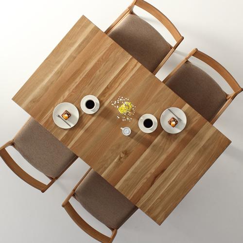 ダイニングテーブル 幅85cm~180cm 高さ65cm~74cm ホワイトオーク材 シャープ 食堂テーブル 無垢材 北欧 和モダン デザイン デザイナー おしゃれ 人気 手作り diy 木製 天然木 日本製 国産 モダン ナチュラル シンプル 家具職人 家具メーカー