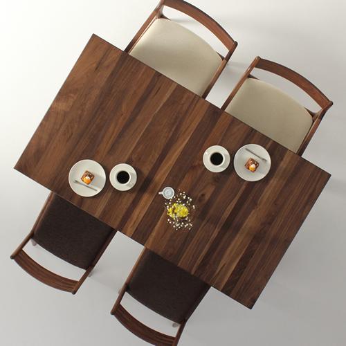 ダイニングテーブル 幅85cm~180cm 高さ65cm~74cm ウォールナット材 シャープ 食堂テーブル 無垢材 北欧 和モダン デザイン デザイナー おしゃれ 人気 手作り diy 木製 天然木 日本製 国産 モダン ナチュラル シンプル 家具職人 家具メーカー
