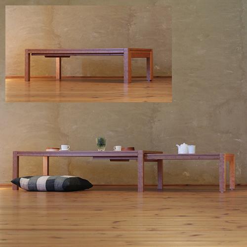 ローテーブル 幅120cm~幅212cm ブラックチェリー材 伸縮式ダイニングテーブル 伸長式ダイニングテーブル エクステンション 拡張式 リビングテーブル センターテーブル ソファーテーブル 和モダン 和風モダン 北欧 おしゃれ おすすめ 日本製 国産 デザイナー 木製 天然木