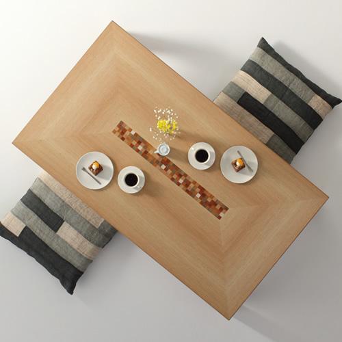 ローテーブル 幅120cm~幅180cm モロッコ カラフル インレイ 楽しい リビングテーブル センターテーブル ソファーテーブル 和モダン 和風モダン 北欧 おしゃれ おすすめ 日本製 国産 デザイン デザイナー 木製 天然木 家具職人 diy 長方形 ナチュラル モダン