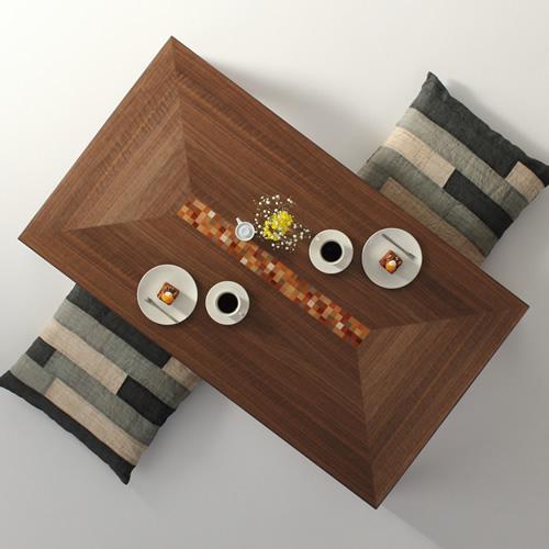 ローテーブル 幅120cm~幅180cm ウォールナット材 モロッコ カラフル インレイ リビングテーブル センターテーブル ソファーテーブル 和モダン 和風モダン 北欧 おしゃれ おすすめ 日本製 国産 デザイン デザイナー 木製 天然木 家具職人 diy 長方形 ナチュラル モダン