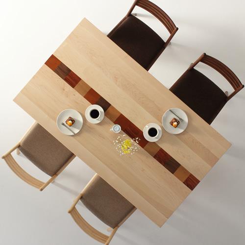 ダイニングテーブル 幅90cm~180cm 高さ65cm~74cm ハードメープル材 モロッコ カラフル 食堂テーブル 無垢材 北欧 和モダン デザイン デザイナー おしゃれ 人気 手作り diy 木製 天然木 日本製 国産 モダン ナチュラル シンプル 家具職人 家具メーカー