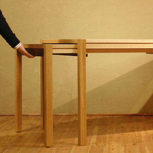 ダイニングテーブル 食堂テーブル 北欧 和モダン デザイン デザイナー おしゃれ 人気 手作り diy 木製 天然木 日本製 国産送料無料 開梱設置費込み セミオーダー対応 ギフト対応 伸縮式ダイニングテーブル 伸長式ダイニングテーブル エクステンション 拡張式 幅140cm~252cm ホワイトオーク材 食堂テーブル 北欧 和モダン デザイン デザイナー おしゃれ 人気 手作り diy 木製 天然木 日本製 国産 モダン ナチュラル シンプル 家具職人 家具メーカー
