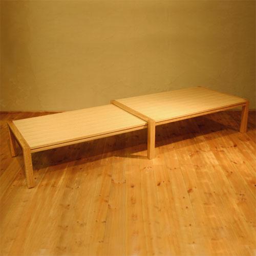 ローテーブル 幅120cm~幅212cm ホワイトオーク材 伸縮式ダイニングテーブル 伸長式ダイニングテーブル エクステンション 拡張式 リビングテーブル センターテーブル ソファーテーブル 和モダン 和風モダン 北欧 おしゃれ おすすめ 日本製 国産 デザイナー 木製 天然木