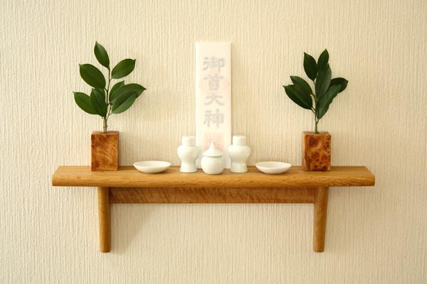 【森林工芸館】【飾り棚】木製壁掛け棚・ウォールシェルフ・神棚