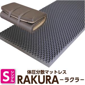 【クーポン配布中】西川 マットレス 西川リビング シングル RAKURA 高反発 マットレス シングル:97×200×厚9cm