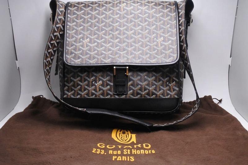 ◆[USED] 送料無料◆ゴヤール グランブルーMM ショルダーバッグ ブラック メンズ 美品 希少 中古 黒◆ 【中古】