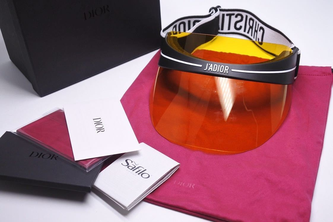 ebab7ed742185 Christian Dior DIORCLUB Dior sun visor 18AW hat CAP yellow black beauty  quality ...