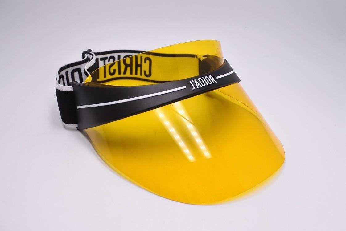4337ddbffc174 ... Christian Dior DIORCLUB Dior sun visor 18AW hat CAP yellow black beauty  quality ...