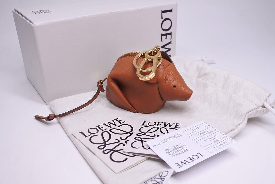 ◆[USED/新品同様]◆送料無料◆ロエベ コインケース ネズミ マウス 小銭入れ チャーム キーホルダー 箱付き◆ 【中古】