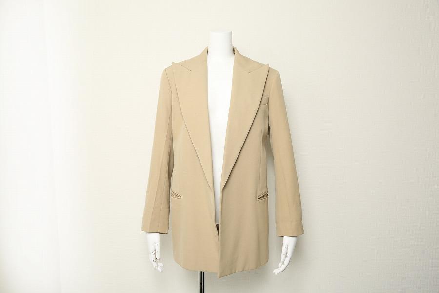 USED 中古 送料無料 買い物 CELINE セリーヌ ジャケット テーラード 高品質 34 ウール フィービー期 ベージュ