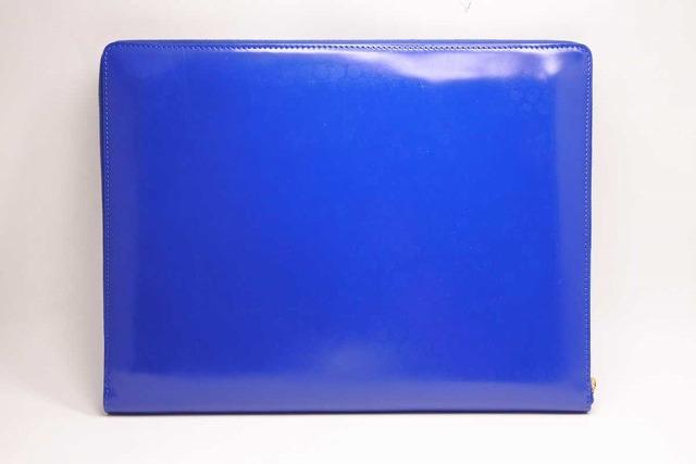 ◆[USED/中古品]◆送料無料◆【中古】CELINE セリーヌ クラッチバッグ ブルー カーフレザー ラージサイズ 青 メンズ 中古 19010