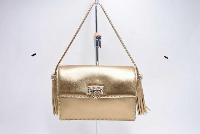 ◆[USED/中古]◆送料無料◆【美品】フェラガモ 超レア ゴールド パーティーバッグ 新型 美品 ハンドバッグ 19453【中古】