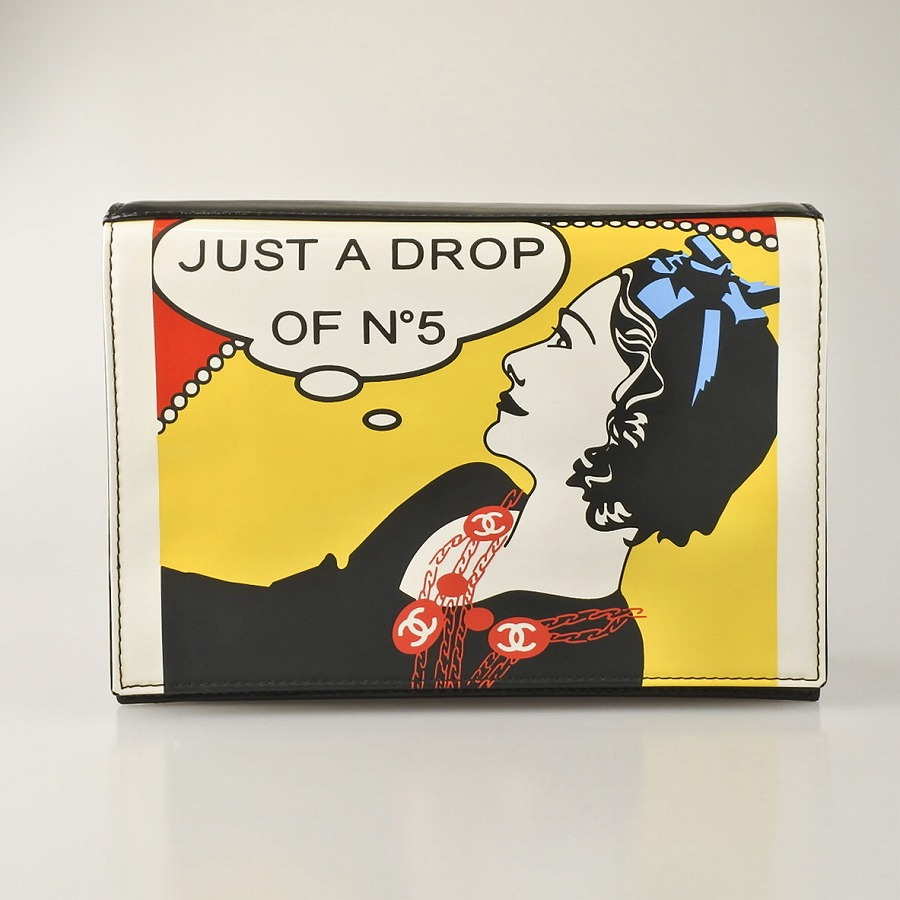 ◆[USED/中古]◆送料無料◆CHANEL シャネル ヴィンテージバッグ クラッチバッグ マドモアゼル JUST A DROP OF NO.5 レア 7番台 レディース バッグ ヴィンテージ【中古】