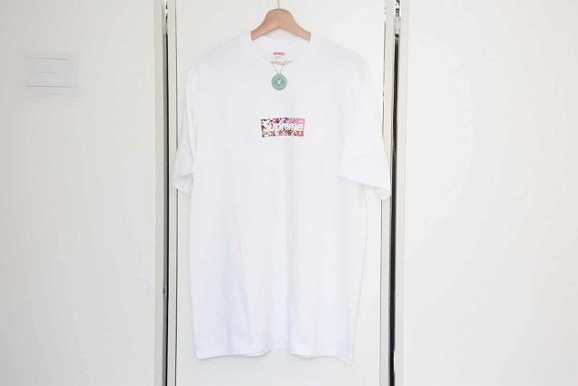 ◆[USED/中古]◆送料無料◆【未使用】SUPREME シュプリーム 20SS 村上隆 コラボ COVID-19 Relief BoxLogoTee ボックスロゴ Tシャツ L メンズ 未使用 19413【中古】