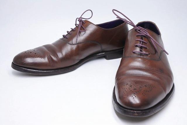 ◆[USED/中古]◆送料無料◆【中古】Crockett & Jones クロケットアンドジョーンズ メダリオン ブラウン ビジネスシューズ 革靴 メンズ 19533【中古】