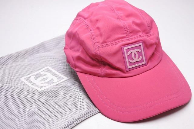 ◆[USED/中古]◆送料無料◆【美品】CHANEL シャネル スポーツライン キャップ CAP 帽子 M ピンク ラバーココマーク サイズ調節可能 美品 19774【中古】