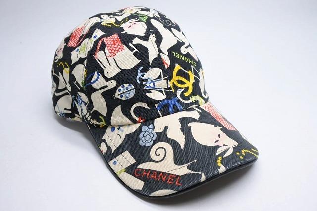 ◆[USED/中古]◆送料無料◆【中古】CHANEL シャネル キャップ CAP 帽子 ブラック マルチ M レディース ココマーク 中古 19679◆ 【中古】