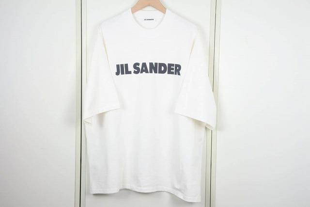 NEW USED 中古 送料無料 新品未使用 JIL SANDER ジルサンダー ロゴ Tシャツ メンズ 34222 トップス コットン 未使用 ホワイト L カットソー オーバーサイズ 正規激安