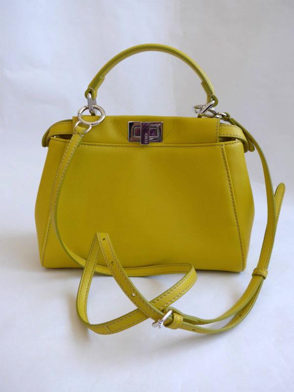 8868c902844c ... shop used fendi fendi unused 2015 new peekaboo peekaboo mini 2 way  handbag lime yellow 72132