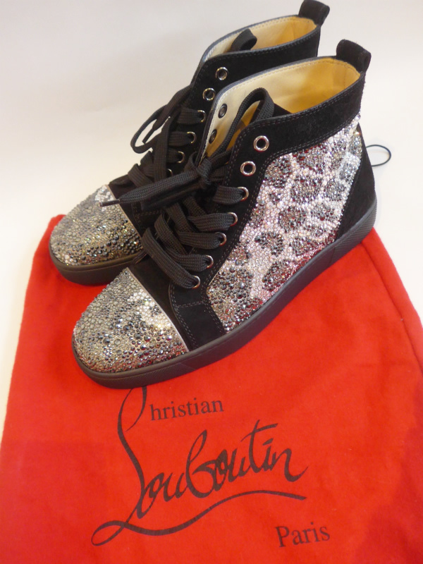cheaper 7ccaa de49a [[USED] [Christian Louboutin ChristianLouboutin: 16 ss Swarovski Lopa  sneakers beauty products (38) •